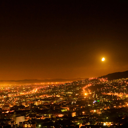 Moon over Cape town