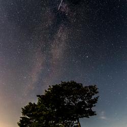 Een grote meteoor schoot over de Melkweg