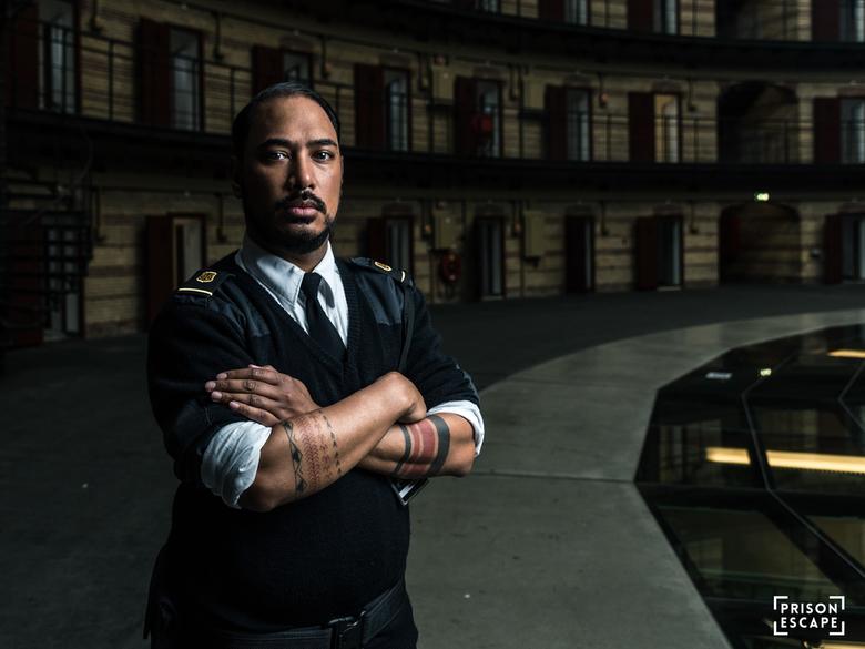 Guard - Bewaker in de voormalige gevangenis De Koepel van Breda.