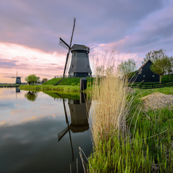 Windmills in northern Holland