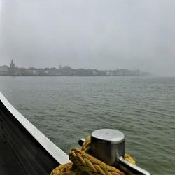 Dordrecht in nevel