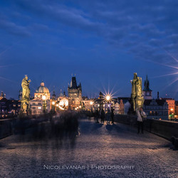 Blue Charles Bridge