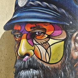 muurschildering Metro Rijnhaven