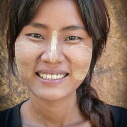 Jonge vrouw Myanmar