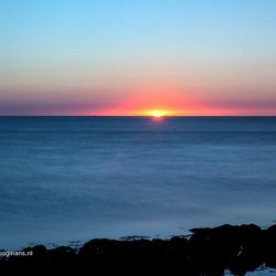 Zonsondergang bij Breezanddijk