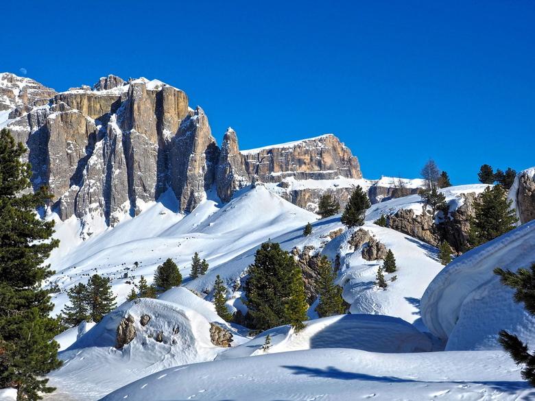 Gruppo del Sella - Gruppo del Sella gezien vanaf Sittá Dei Sassi in de Dolomieten (Italië)