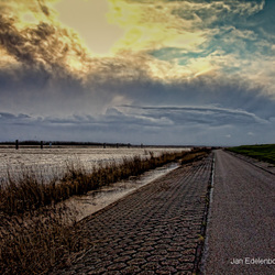 Storm over het Ketelmeer