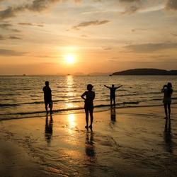 Thailand zonsondergang