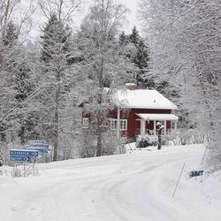 Zweeds huis in winter