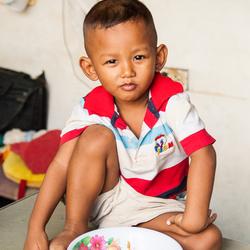 Trotse Thaise jongen