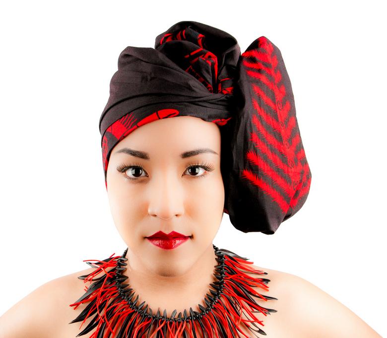 Portret. - Portret met thema afrikaanse looks en headwraps.