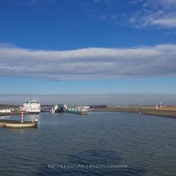 Texel aankomsthaven.
