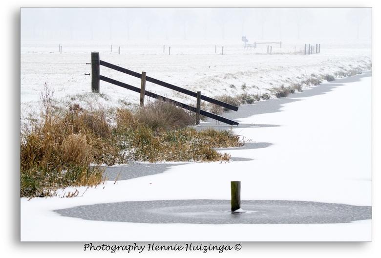 Winterse landschap - Winterse Drentse landschap.<br /> <br /> Was erg koud, maar was wel genieten.