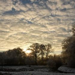 opkomende winterzon
