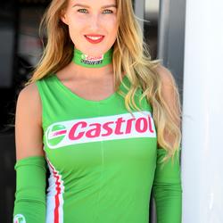 Castrol paddock girl