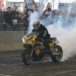 burning rubber....