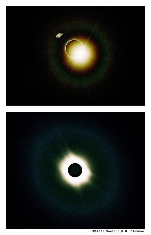 Eclips 2006 (Turkije) - Oh, er is zoveel af te dingen op deze upload: scherpte, grote korrel, sluitertijd (van de bovenste), onderwerp in thumbnail (a