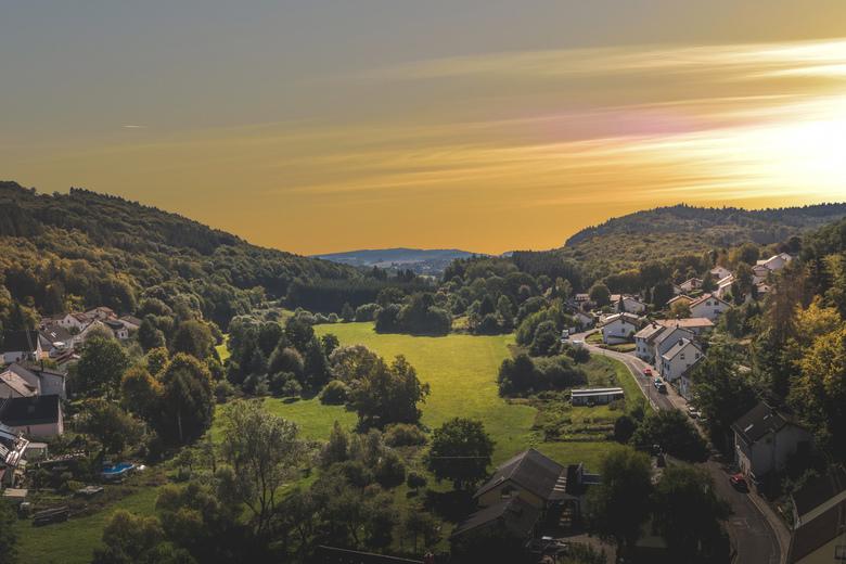 Landschap Nohfelden - Foto gemaakt op vakantie in Nohfelden vanaf een kasteeltoren.