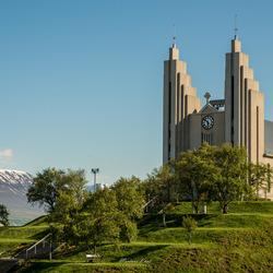 Kerk in Akureyri (IJsland)