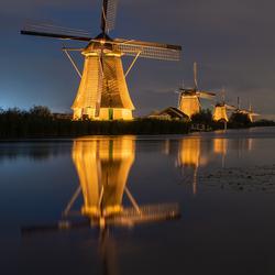 illuminated windmills