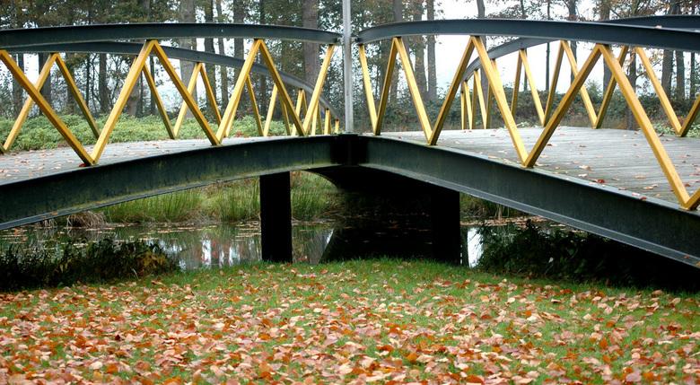 de smalle of brede weg ?! - voetgangers bruggetje , vaassen tuinen van   kasteel cannenburch