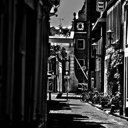 Een straat in de binnenstad van Alkmaar