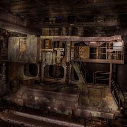 Vervallen industrieel apparaat