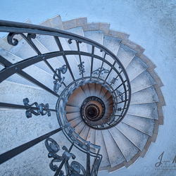The stairs.