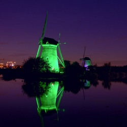 Kinderdijk in led hdr (dri)