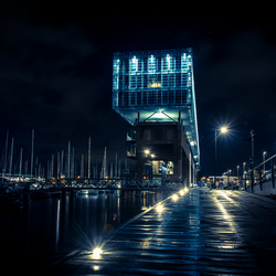 Jachthaven Marina Amsterdam by Night
