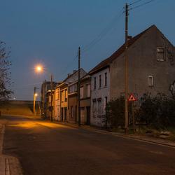 Doel (België) bij het vallen van de avond