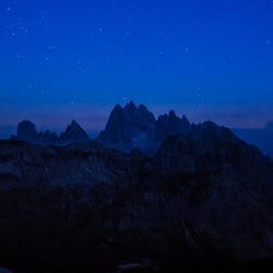 Night at the Dolomites