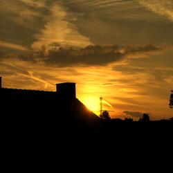 Donderdag avond zag ik deze mooie zons ondergang