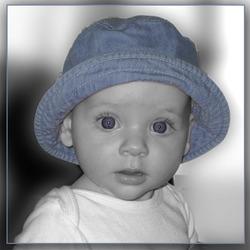 blauw hoedje