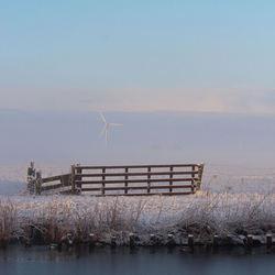winterse nevelige ochtend