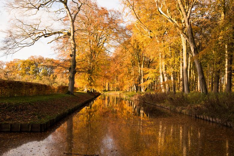 De Menkemaborg in Uithuizen. - nog steeds in herfstkleuren.