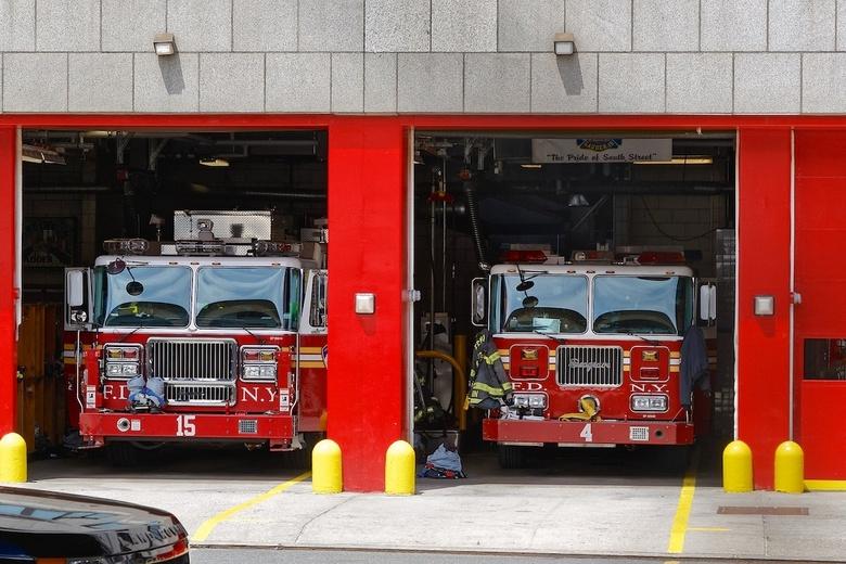 NYFD - New York Fire Department vlak bij Wall Street