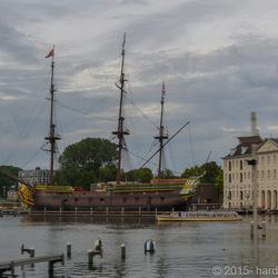 VOC schip in Amsterdam