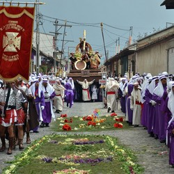 Processie Semana Santa in Antigua