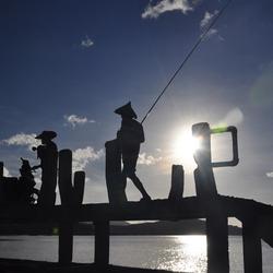Vissers op Lombok