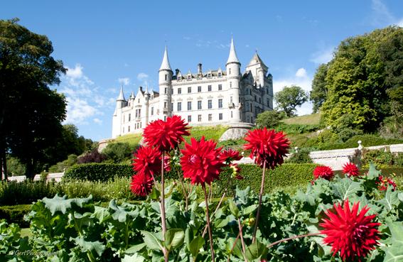 Dunrobin Castle - Een van de vele kastelen in Schotland. Prachtige tuinen, binnen verboden te fotograferen omdat het nog bewoond is.