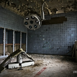 Operationroom in abandoned russian hospital