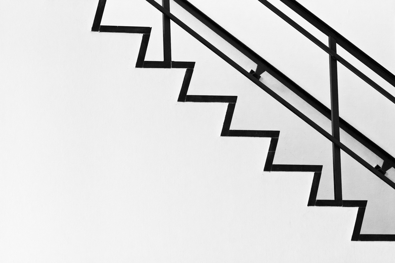 abstracte trap - Foto genomen in het gebouw van Entomologie, een dag voor de sloop is gestart