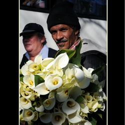 Bloemenkoopman Zuid Afrika