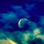 onze maan in kleur