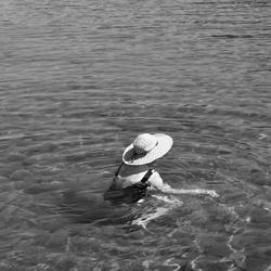 Touriste in zee