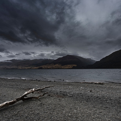 The other side of Lake Wanaka