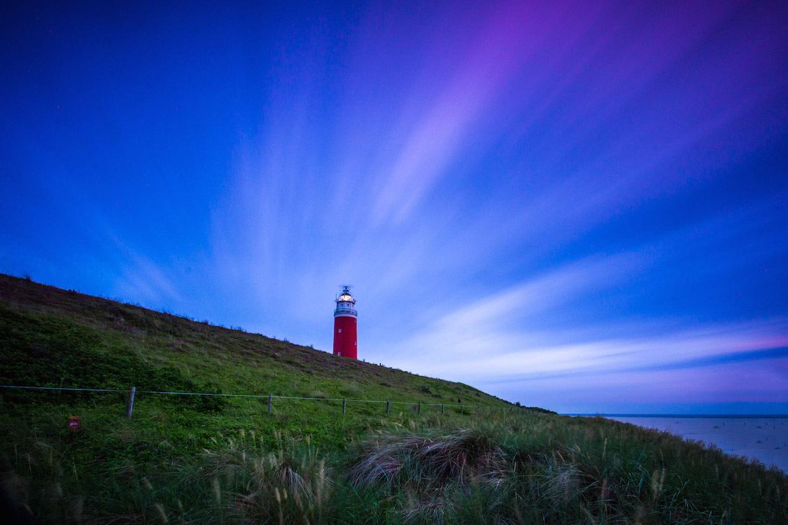 Texel's Lighthouse 4min Exposure