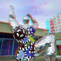 Sculpture by Niki de Saint Phalle in Beelden aan Zee 3D