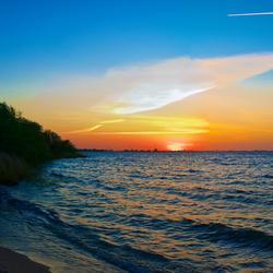 zonsondergang aan IJmeer